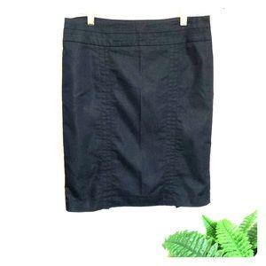 Black Pencil Cut Skirt 8